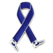 Blue Awareness Pin Walking Legs Ribbon Colon Cancer Child Abuse Crohn's ... - $13.97
