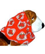 Dog Snood-Valentines Day Red Hearts Flowers Cotton Puppy SHORT CLEARANCE - $4.75