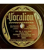 Vocalion 78 RPM Putney Dandridge Im On A See Saw  Double Trouble Jazz Fo... - $128.70