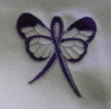Domestic Violence Purple Ribbon Butterfly White Hoodie Sweatshirt 2XL New - $30.04