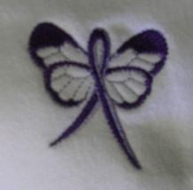 Domestic Violence Purple Ribbon Butterfly White Hoodie Sweatshirt 5XL New - $33.92