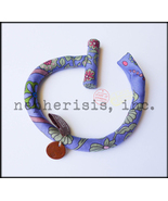 BNIB Limited Edition Hermes Petit H Silk Scarf Carre Toggle Bracelet PURPLE GM - $350.00