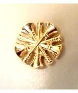 Fire Chief Collar Pin Device 5 Crossed Bugles Tac 2 Piece Set Gold Plate... - $15.65