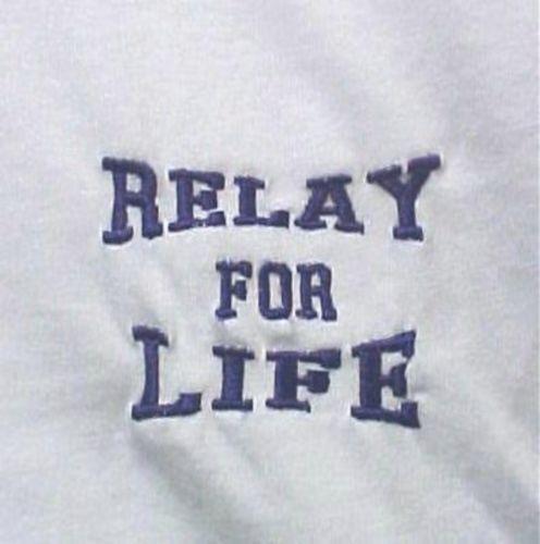 Purple Relay for Life Walk White S/S T Shirt Cancer Awareness Medium Unisex New
