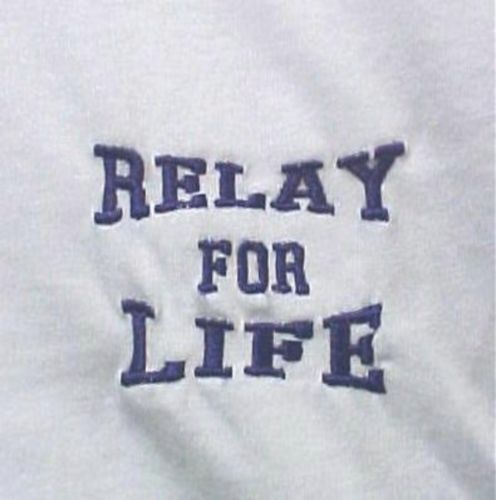 Purple Relay for Life Walk White S/S T Shirt Cancer Awareness Large Unisex New