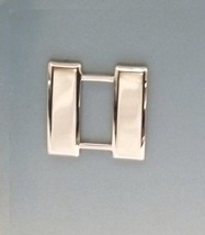 """Silver Captain Bars 3/4"""" Fire Rescue Military Rank Insignia Set Nickel Plated - $15.65"""
