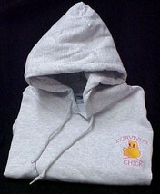 Survivor Chick Breast Cancer Awareness Gray Hoodie Sweatshirt S Unisex New - $30.69