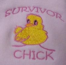 Survivor Chick Breast Cancer Pink Sweatshirt Hoodie XL Unisex New - $30.69