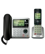 Corded & Cordless Telephone Combo Answering Machine Den Kitchen Appliance Caller - $56.89