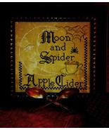 Moon & Spider Apple Cider cross stitch chart Needlework Press - $6.30