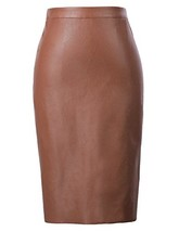 Kate Kasin Stretchy Business Pencil Skirts Brown L KK601-5 - $22.93