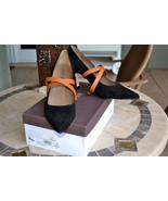 NIB $428 ANYI LU Sophia Pumps Shoes Black Suede... - $191.98