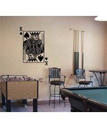KING of SPADES Playing Card Poker Blackjack Vinyl Wall Sticker Decal - $29.99