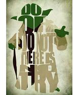Star Wars Yoda Poster - Minimalist Illustration Typography Art Print & P... - $32.00