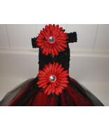 BABY GIRL LONG RED AND BLACK TUTU DRESS WITH HEADBAND ***GO DAWGS*** - $18.00