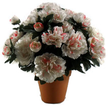 Potted Peonies Handcrafted Flower Pot Decorative Home Decor  - $20.00