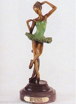 """14""""H """"Ballerina"""" Solid American Bronze Statue Sculpture by Fayral - $410.00"""