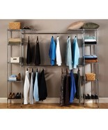 Closet Organizer System Expandable Clothes Shoes Sweaters Hangers Folded... - $178.95