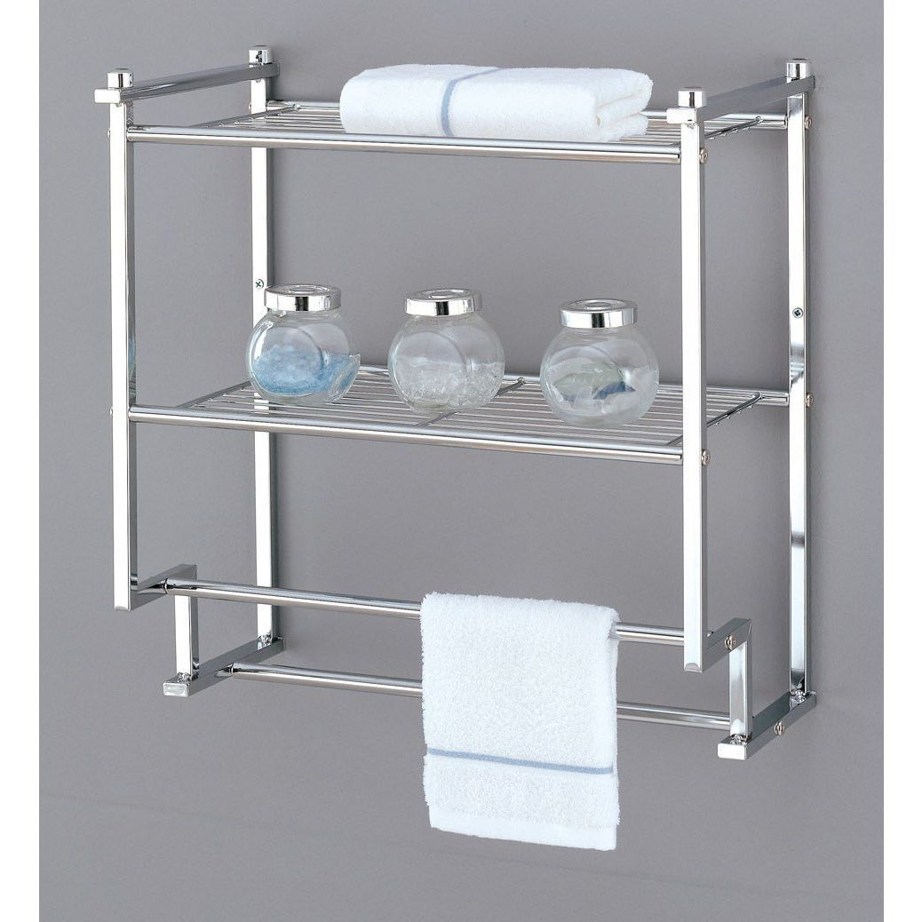 Wall Mount Rack Home Kitchen Bathroom Bath Shelf Holder Hanger Towel Bar Mounted Racks Holders