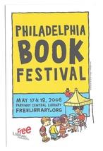 Modern Advertising Postcard Philadelphia Book Festival 2008 Central Library - $4.99