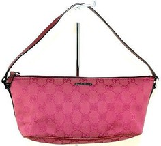 Auth Gucci GG Pink Canvas Mini Pouch Hand Bag Cosmetic Makeup Accessorie... - $98.01