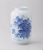 [VALUE] Arita-yaki : LANDSCAPE - Japanese Porcelain Vases w Box from Ari... - $177.65
