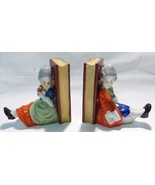 """Book end ceramic made in japan man woman 4"""" tall hand painted 1960 vintage - $22.76"""