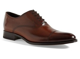 Handmade mens brown Oxford dress leather shoes, Men brown formal leather shoes - $159.99