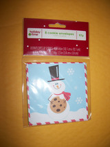 Home Holiday Party Supply Christmas Snowman Cookie Envelope Holder Pack Set Of 8 - $0.94