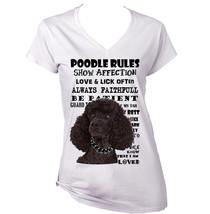 Black Poodle  Dog Rules. Amazing Graphic Tshirt  S M L Xl Xxl - $36.81