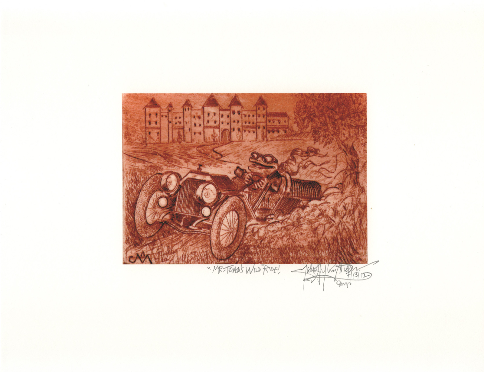 Mr. Toad's Wild Ride  -John Anthony Miller Giclee print (signed)