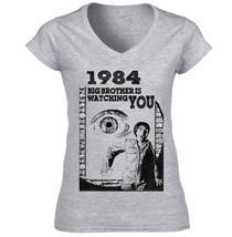1984 GEORGE ORWELL  - COTTON GREY TSHIRT S-M-L-XL-XXL - $35.56