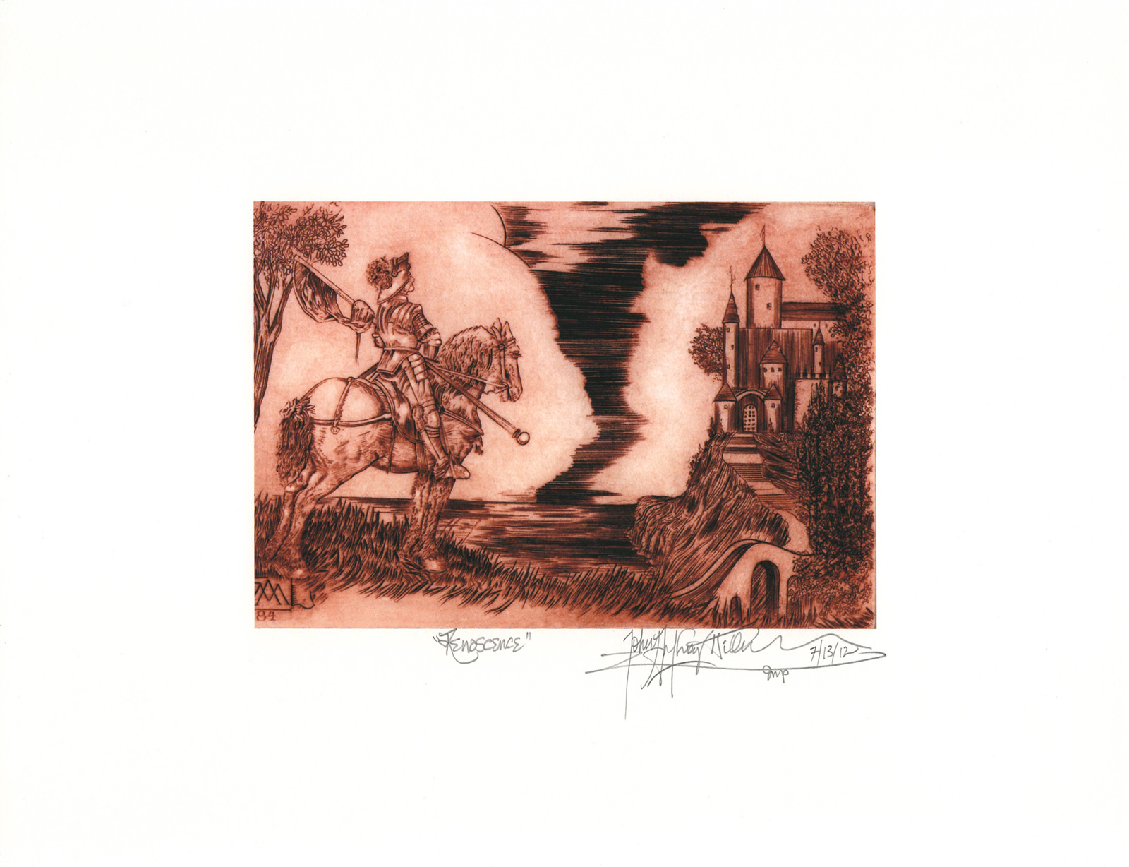 Renascence (after Albrecht Durer)  -John Anthony Miller Giclee print (signed)