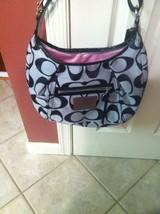 Silver Coach handbag 16376 - $150.99