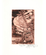 The Sea Dragon (Chinese junk)  -John Anthony Miller Giclee print (signed) - $25.00