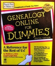 Genealogy Online for Dummies Special Edition [Paperback] [Jan 01, 1999] ... - $18.45