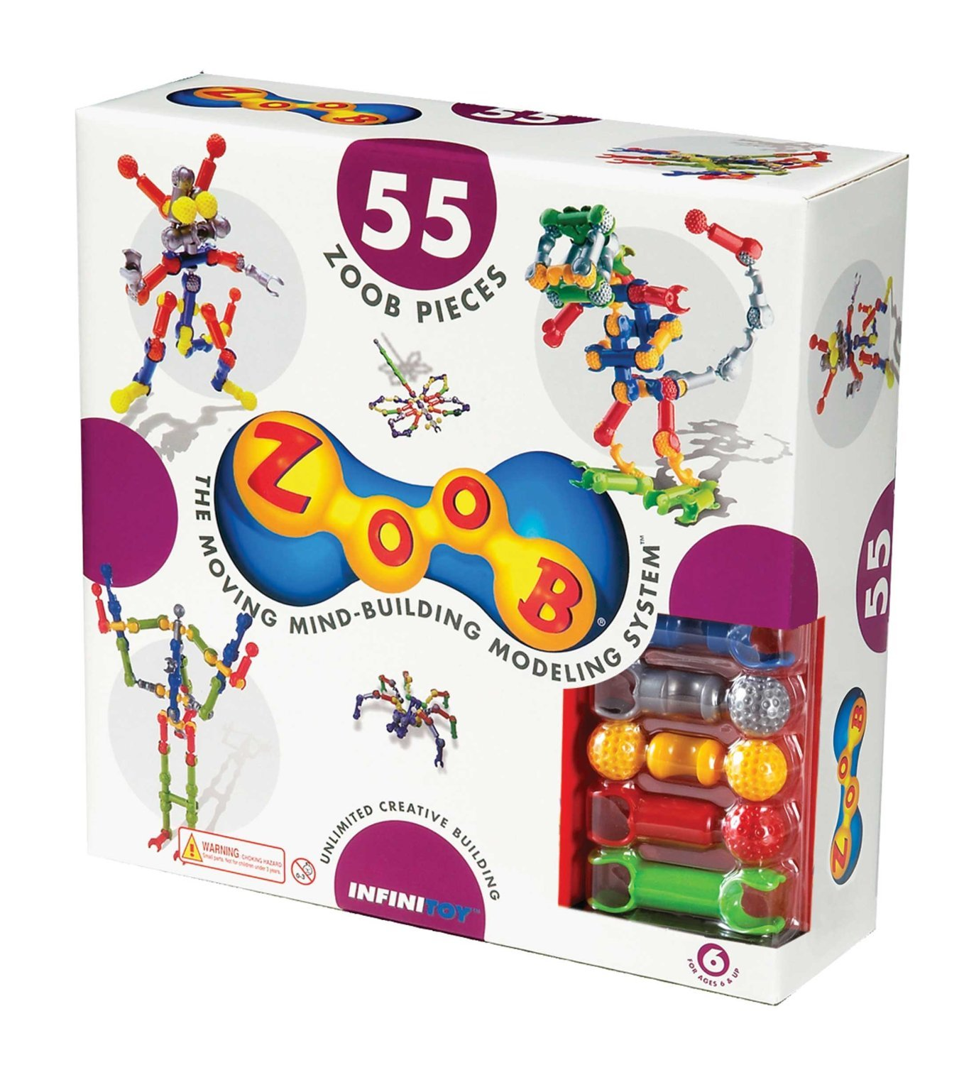 ZOOB 55-Piece Moving Mind-Building Modeling System Building Set by Infinitoy