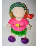 Russ Dollies Girl Doll Soft Plush Pink Star Shi... - $13.97
