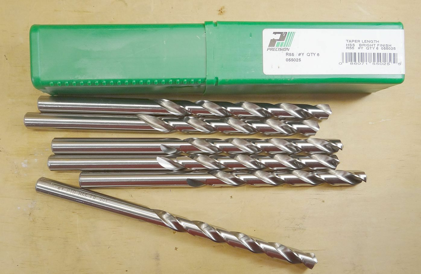 Primary image for 6 PRECISION TWIST DRILL 055025 R55 LTR Y 118' HSS PTD GP TAPER LENGTH DRILL BIT