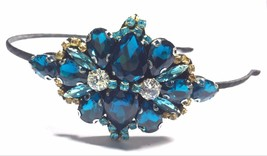 Blue rhinestone headband -- good quality - €10,65 EUR