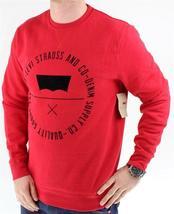 Levi's Men's Premium Classic Graphic Cotton Sweatshirt Red 3LVYM1111F image 3