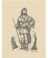 The Mountain Man offset lithograph by John Anthony Miller limited edition - $45.00