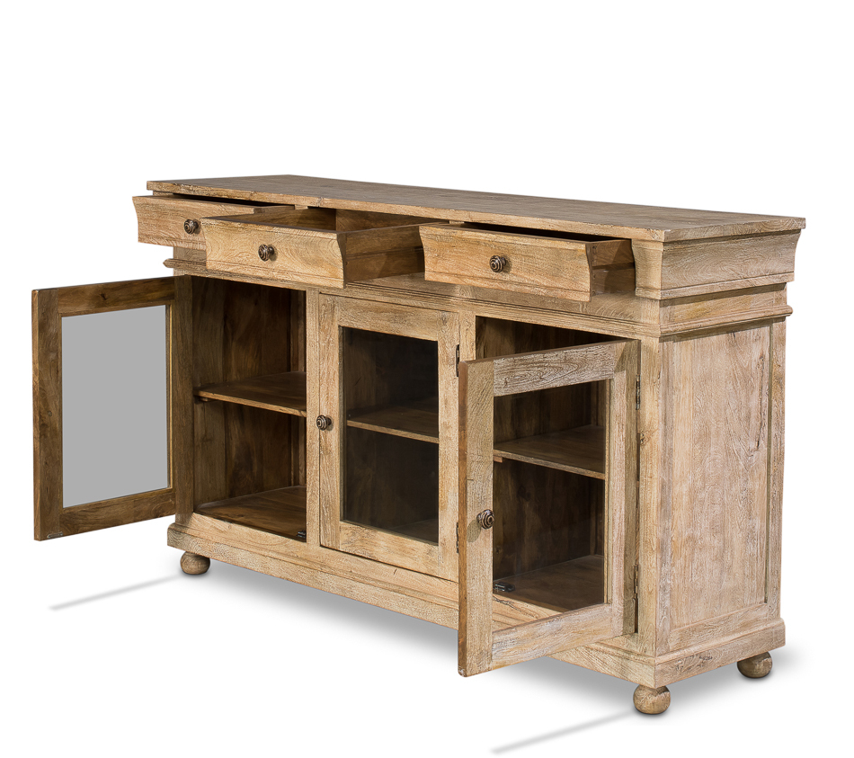 Mango Wood Sideboard ~ Mango wood paris flea market sideboard buffet  l
