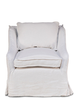 French Country Chic Shabby White Belgium Linen Chair. - €1.322,07 EUR