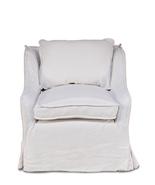 French Country Chic Shabby White Belgium Linen Chair. - $1,495.00
