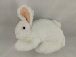 "Folkmanis White Bunny Rabbit Puppet Hand Plush 7"" Plush Stuffed Animal toy - $7.95"