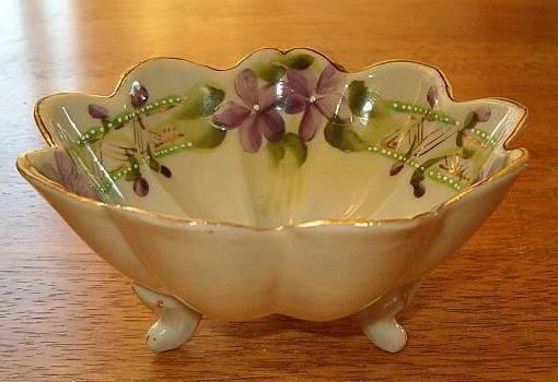 Japan violet handpainted bowl 3