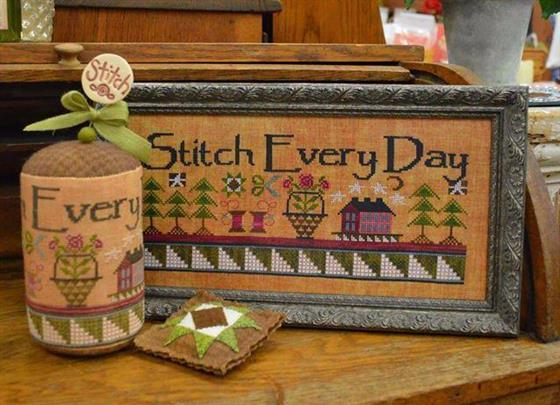 Stitch Lolly large pine for pincushions cross stitch JABC Just Another Button Co