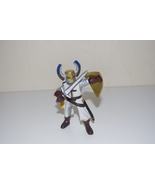 Papo White Gold Blue Cross Soldier Knight with Shield & Sword 1999 - $11.95