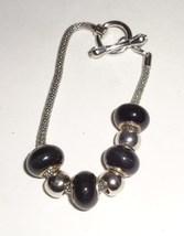 Black Large Hole European Style Bead Charm Bracelet Jewelry Gift SALE - $1.99